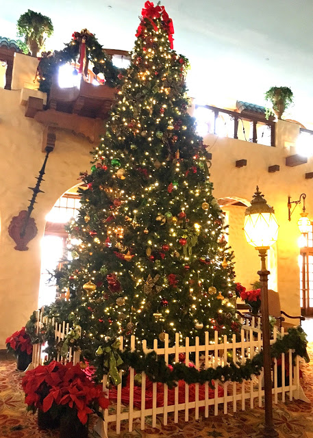 The Hotel Hershey Fountain Lobby transforms at Christmastime