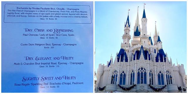 Sparkling Wine in Cinderella Castle