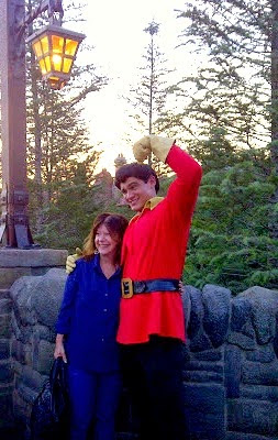 Disney character meet and greet with Gaston