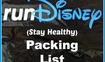 runDisney Packing List | A Physical Therapist's Must-Haves