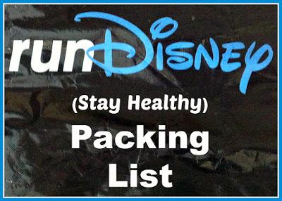 injury preventionrunDisney packing list