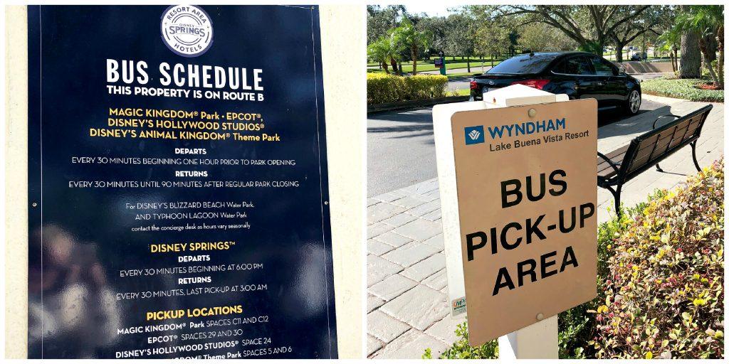 Bus service at Wyndham Lake Buena Vista