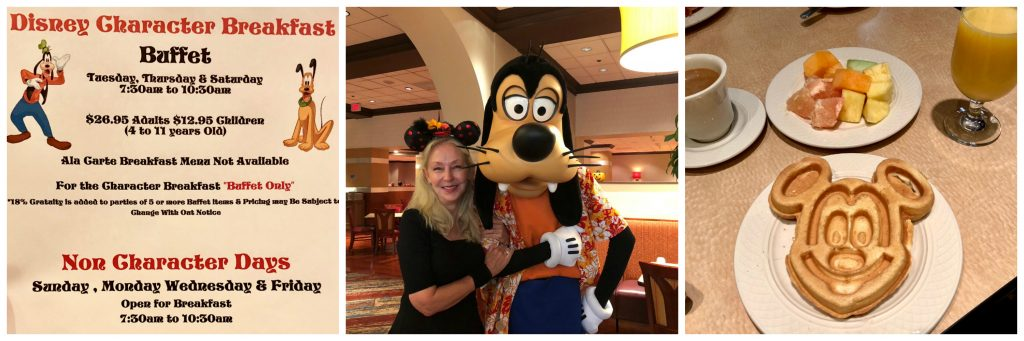 Goofy and Pluto Character Breakfast