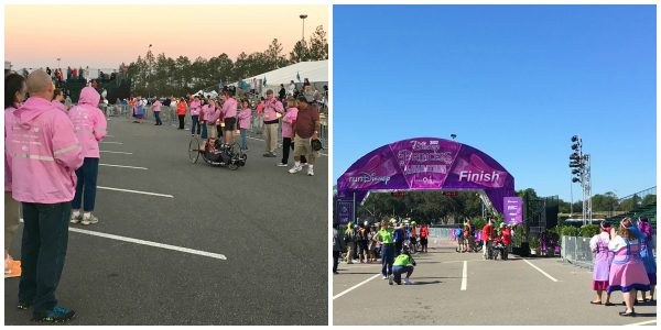 First and final participants cross the Disney Princess Half Marathon finish line.