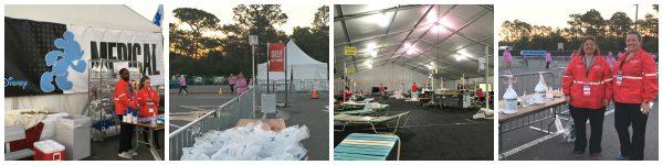 runDisney Medical Team staffs finish line treatment tent and self treatment areas during Disney Princess Half Marathon