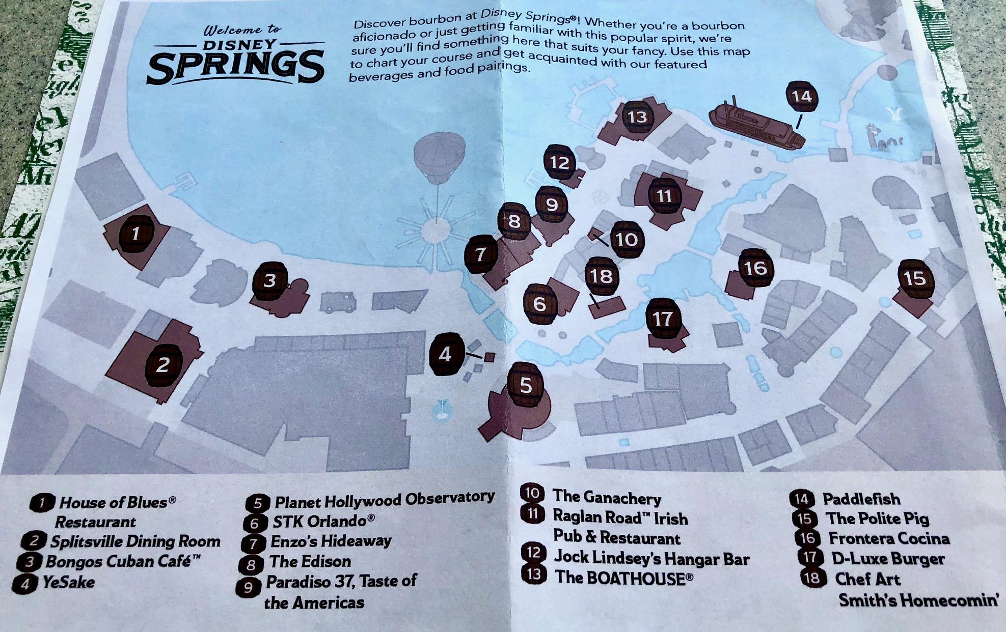 Stroll the Bourbon Trail at Disney Springs at Walt Disney World on