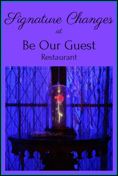 Prix Fixe Changes at Be Our Guest Restaurant