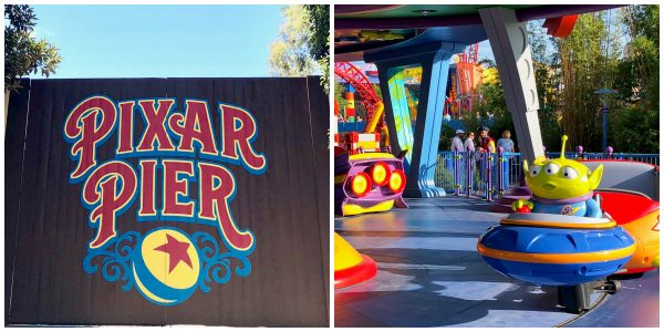 Pixar Pier Gate and Alien Swirling Saucers