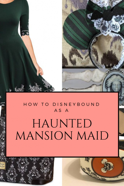 How to DisneyBound as a Haunted Mansion Maid for Mickey's Not-So-Scary Halloween Party or any day in a Disney park. #HauntedMansion #DisneyBounding
