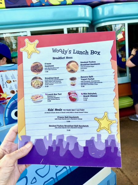 Breakfast in Toy Story Land