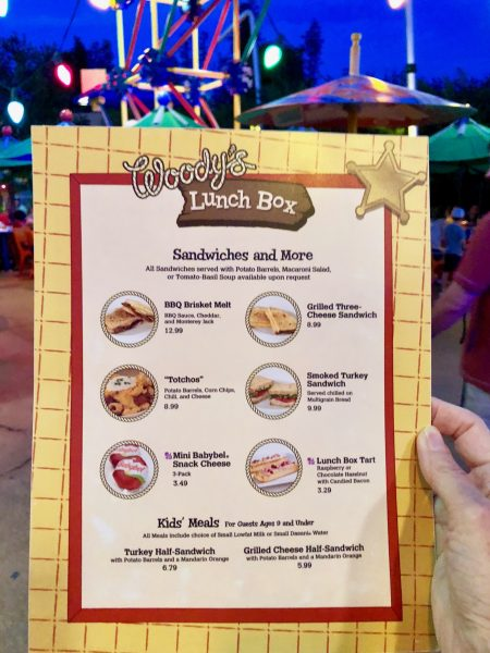 Woody's Lunch Box Lunch and Dinner Menu