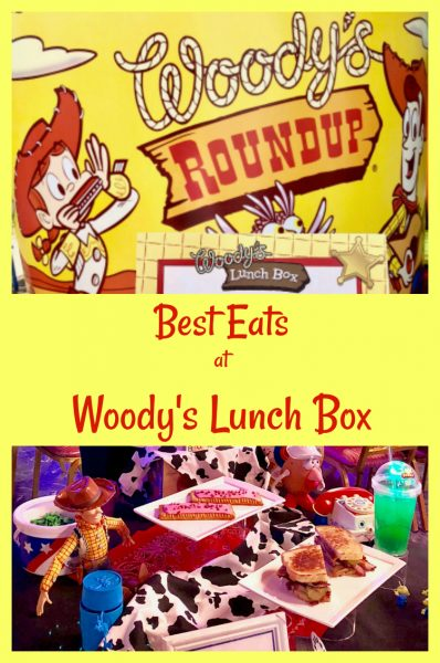 Howdy hey! Here's the roundup of the best eats at Woody's Lunch Box Toy Story Land. #ToyStoryLand #restaurant