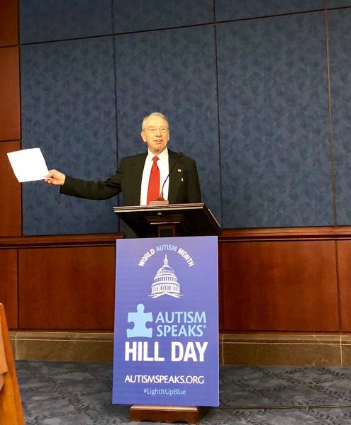 Senator Chuck Grassley attends Autism Hill Day 2018