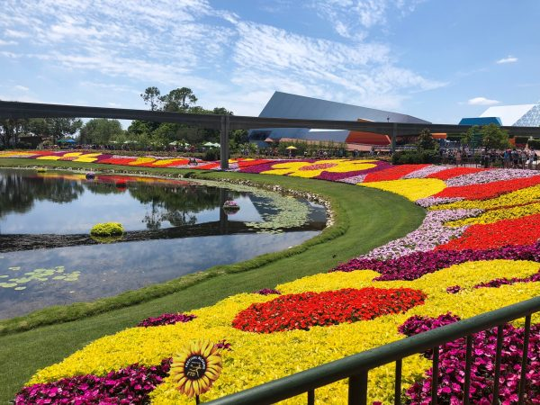 Epcot International Flower and Garden Festival flower beds