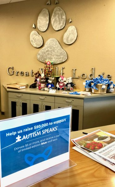 Great Wolf Lodge's Blue Wolf Ears Campaign for Autism Awareness Month