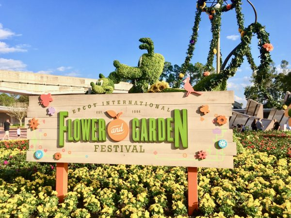 Entrance planting at 2017 Epcot International Flower and Garden Festival