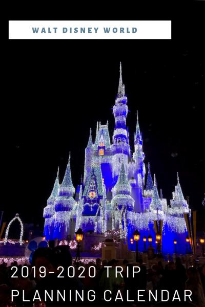 Walt Disney World Trip Planning Calendar