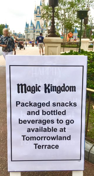 Magic Kingdom Hurricane Snacks