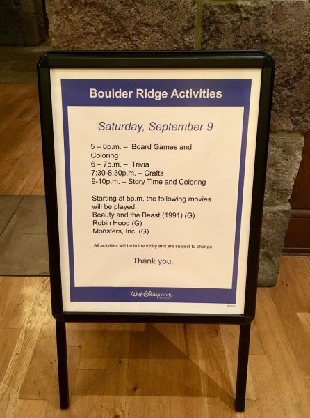 Boulder Ridge Hurricane Activities
