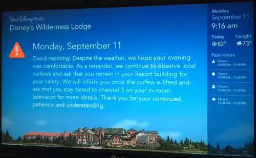 Disney Resort hurricane alerts