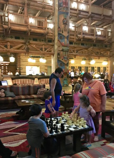 Disney's Wilderness Lodge Lobby Chess