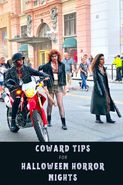This lily-livered coward has a confession. With some strategic avoidance (and these tips), I came to LOVE the Halloween Horror Nights at Universal Orlando. #UniversalOrlando #HHN19 #Halloween #HalloweenHorrorNights