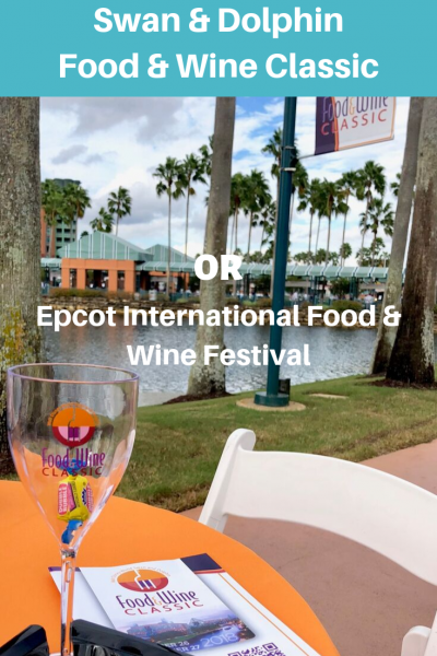 Swan and Dolphin Food and Wine Classic VS. Epcot International Food and Wine Festival? Know beofre you go!! #WDW #DisneyWorld #FoodFestival #EpcotInternationalFoodandWineFestival