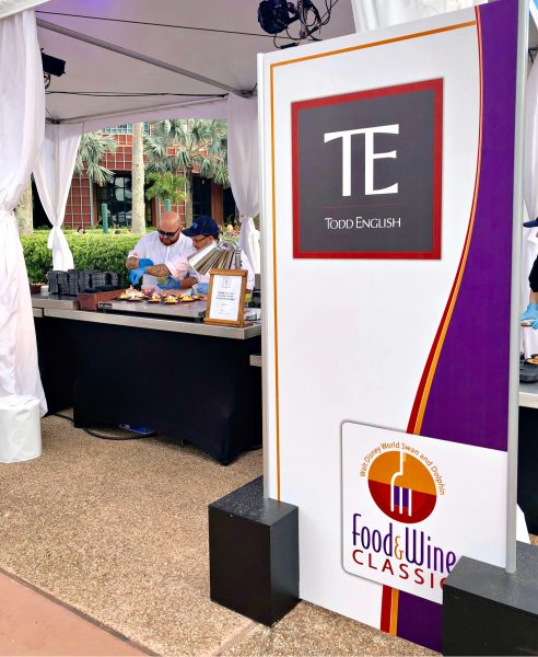 Walt Disney World Swan and Dolphin Food and Wine Classic Todd English Booth