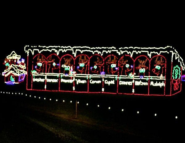 Holiday Santa's reindeer animated display