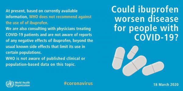 The Coronavirus Advil myth