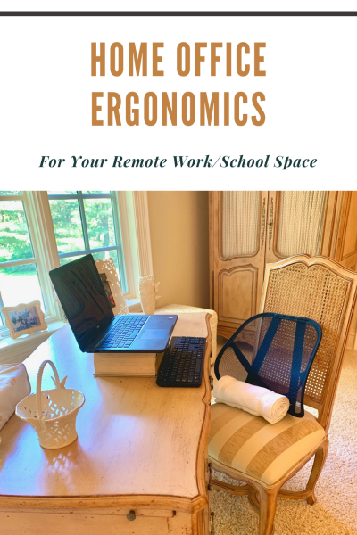 Remote working? Virtual schooling? Many of us are suddenly spending hours and hours in the sitting position. Don't let lumbago, sagging posture, and lasting aches and pains. Here are ergonomic tips and tricks that will keep you comfortable and performing at your best. #ergonomics #propersittingposture #posture #lumbarsupport #physicaltherapy #Coronavirus