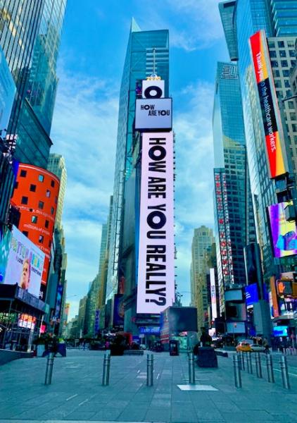 Times Square during quarantine