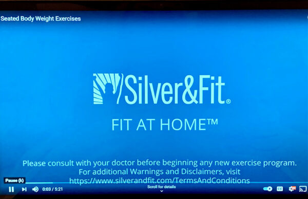 Silver&Fit Fit at Home Exercise Program